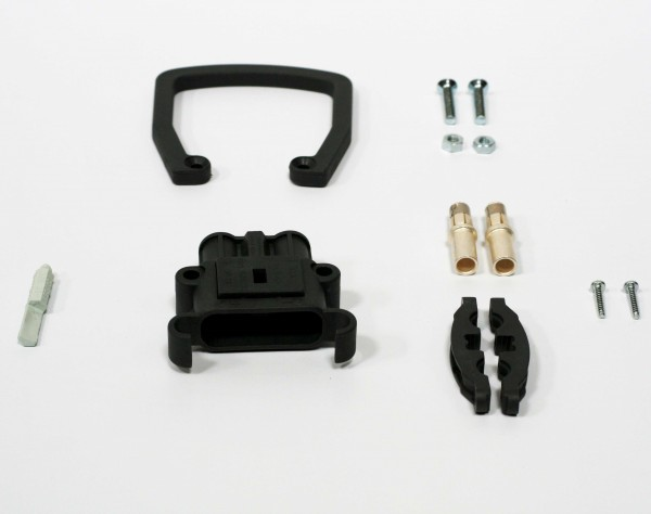 REMA Dose Euro Din 80A Kupplung 16mm² (Griff, Kodierstift grau, Hauptkontakt, Zugentlastung)