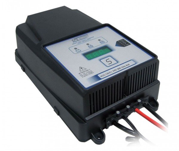 Q-Batteries energiesparendes Hochfrequenzladegerät 24V 40A by S.P.E. Charger CBHF2-XP 12/24V