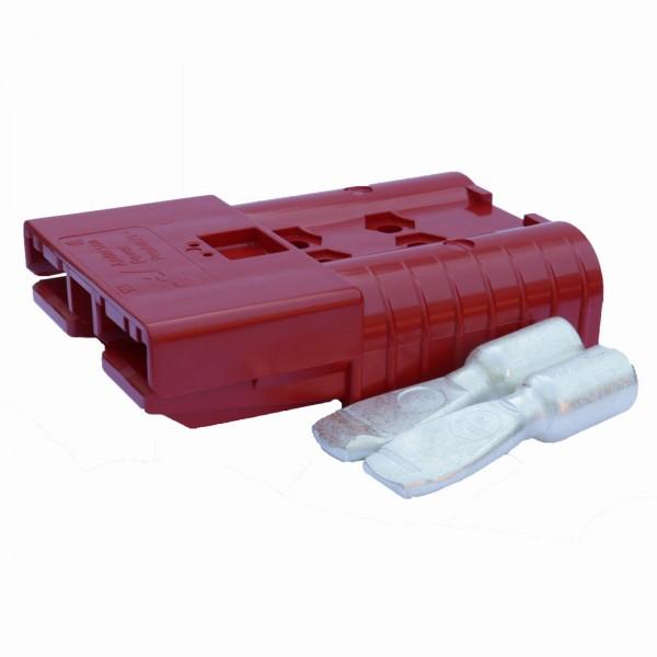 Anderson Flachstecker SB 350A rot, Stecker inkl. 2 Hauptkontakte, 24 V, 70mm²
