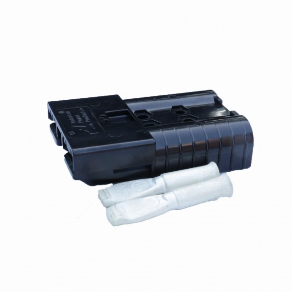Anderson Flachstecker SBE 320A schwarz, Stecker inkl. 2 Hauptkontakte, 80 V, 70mm²