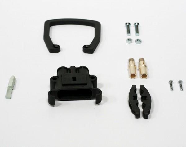 REMA Dose Euro Din 160A Kupplung 35mm² (Griff, Kodierstift grau, Hauptkontakt, Zugentlastung)