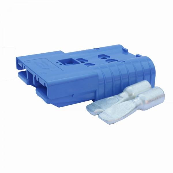 Anderson Flachstecker SBE 160A blau, Stecker inkl. 2 Hauptkontakte, 48 V, 50mm²